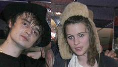 Pete Doherty getting cosy with Sting's daughter