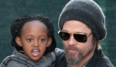 Brad & Angelina take Shiloh & Zahara shopping in Paris