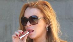 Lindsay Lohan's crack hustling earns her an award   for sobriety