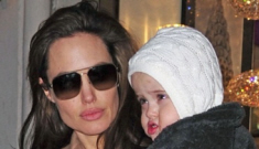 Brad Pitt & Angelina Jolie bring out the twins in NYC
