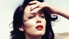 Emily Blunt models blue Tom Ford for Bazaar UK: amazing or meh?