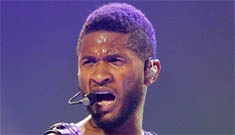Usher gets kicked in the face by a fan (video)