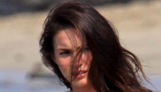 """Megan Fox in a bikini: """"painfully thin"""" or does she look healthy?"""