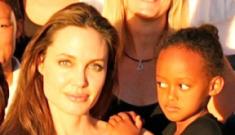 Angelina Jolie, Brad & Empress Zahara's magnificent shank-eye in Namibia