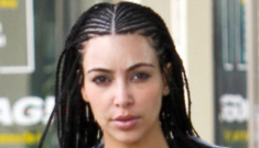 Kim Kardashian's new hair: the Armenian Bo Derek, or is   it just fug?