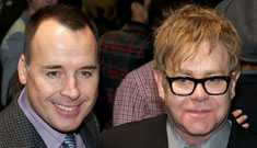 Elton John's new baby lives in another apt and has 2 nannies