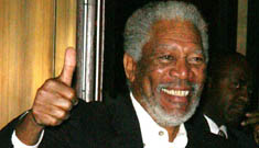 Morgan Freeman is sitting up and talking in the hospital, says friend