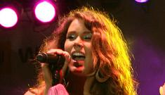 Joss Stone headbutts brother at his son's baptism