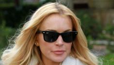 "Lindsay Lohan's new ""sober coach"" is Tom Hardy.  Ugh."