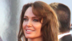 Angelina Jolie at the Golden Globes: green Versace, bad hair & conspiracies