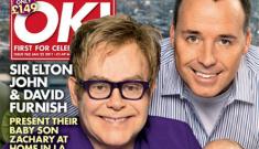 Elton John & David Furnish show off their new baby Zachary