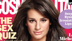 Lea Michele's plunging neckline for Cosmo: trashy or cute?