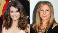 Lea Michele of Glee wants to thank Barbra Streisand