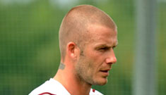 David Beckham terrified of going bald and getting fat