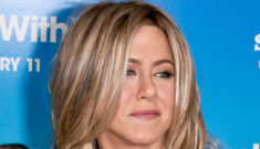 Jennifer Aniston in black, sheer D&G at premiere: stumpy or gorgeous?