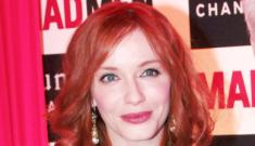 Christina Hendricks, turquoise in Paris: beautiful or meh?