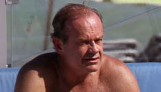 Shirtless Kelsey Grammer gets his mack on with young fiance in Miami