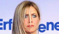 Jennifer Aniston's black Nina Ricci in Berlin: cute or tragic?