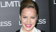 Abbie Cornish's suspenders & tapered pants: unfortunate   or cute?