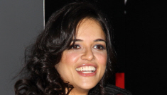 Michelle Rodriguez big, black ball gown: inappropriate or gorgeous?