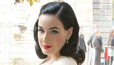 Dita Von Teese is single & looking; says her look is how she deals w/ shyness