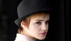 Emma Watson's lace booty shorts & Bieber hair: awful or cute?