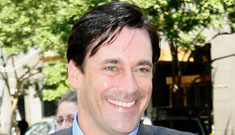 Chiseled actor Jon Hamm from 'Mad Men' is enjoying his hard-earned success