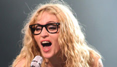 Madonna wears geek glasses, plus celebrities w/ Buddy Holly specs