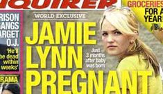 Jamie Lynn Spears is pregnant again, reports The National Enquirer