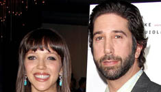 David Schwimmer, 44, and his pregnant 25 year-old wife step out at premiere