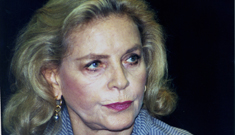 Lauren Bacall goes crazy-old-lady on Tom Cruise