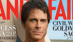Rob Lowe's man-nipples cover Vanity Fair, promote his autobiography