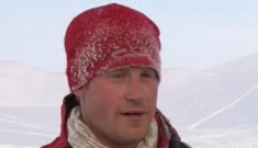 Prince Harry talks to 'Today Show' while his royal   bollocks freeze off