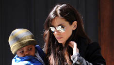 Sandra Bullock out with adorable Louis, helps  promote her sister's book