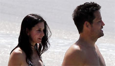 Courteney Cox calls relationship 'platonic' after she's seen on vacation