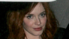 Christina Hendricks in Vivienne Westwood: boobs & bangs trauma?
