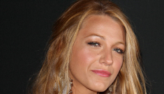 Blake Lively covers up her rack: somewhat demure, or still pretty cheap?