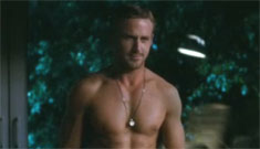 Ryan Gosling shirtless in the Crazy Stupid Love trailer