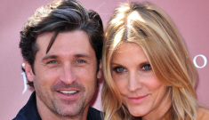 Star: Patrick Dempsey wears his wife's fake eyelashes all the time