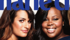 Was Lea Michele pissed that she had to share the cover of Marie Claire?