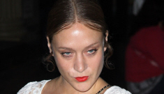 Chloe Sevigny in doily couture: greasy, hideous mess, or not that bad?