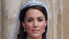 Did Kate Middleton wear something borrowed & something blue?