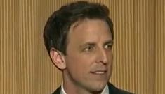"""Seth Meyers kills at the Correspondents Dinner""   links"