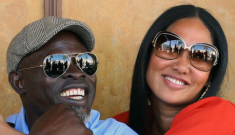 Djimon Hounsou is still into Kimora Lee Simmons: her?