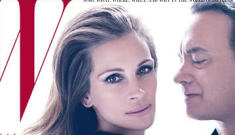 Julia Roberts & Tom Hanks cover the June issue of W Magazine