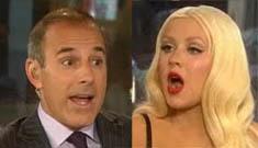 Christina Aguilera blames intervention on ex employees, Matt Lauer calls her out
