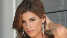 Elisabetta Canalis's modeling gig for Cavalli seems really budget