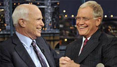 """McCain admits to Letterman """"I screwed up"""""""