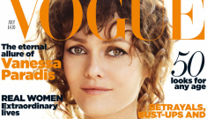 """Vanessa Paradis """"sports her engagement ring"""" in her horrible Vogue UK shoot"""