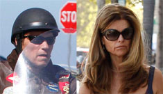 Maria Shriver and Arnold were back in Malibu for the holiday weekend – apart
